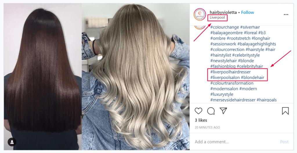 Location tag on Instagram