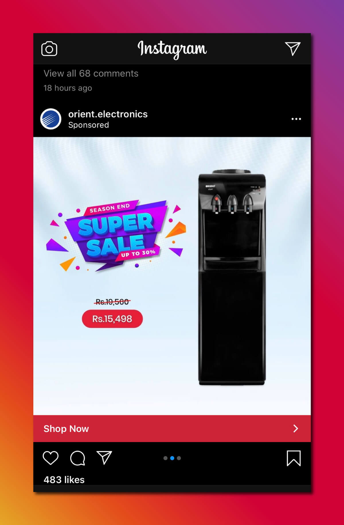 Instagram Marketing Strategy - Sponsored Ads
