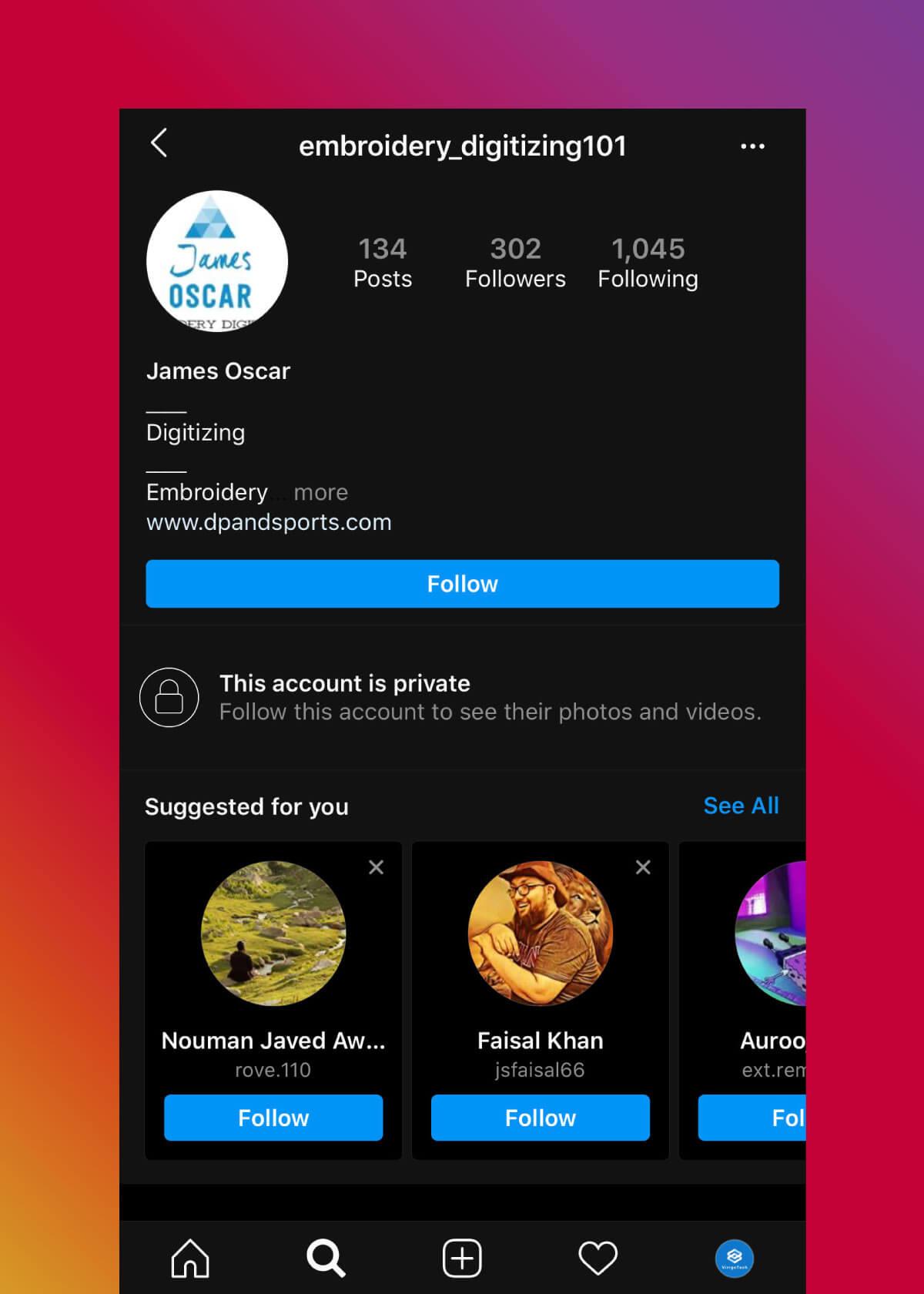 Instagram Marketing Strategy - Bad Profile Example